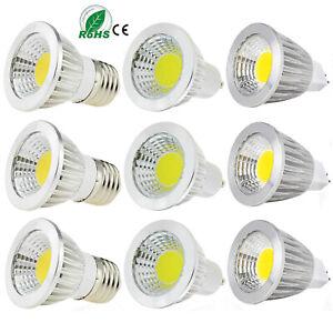 Bright GU10 E27 E14 MR16 Dimmable 6W 9W 12W COB LED Spot Lights Bulbs Lamp RC