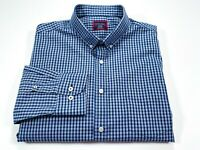 UNTUCKit XL Men's Blue Check Wrinkle Free Long Sleeve Button Front Shirt