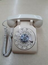 Vintage AT&T Rotary Dial Desk Telephone Beige Phone Works