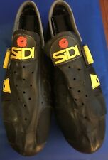 Sidi Revolution black leather cycling shoes vintage 41 EUR Made in Italy
