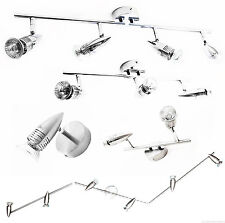 Modern Silver Chrome Spiral 3 Head Gu10 2 Pin Ceiling Spot Light Fitting