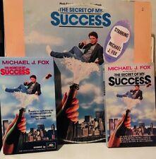 THE SECRET OF MY SUCCESS 1987 FILM SOUNDTRACK / VHS / TIE-IN PAPERBACK