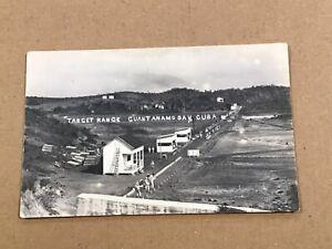 C1910 Guantanamo Bay Cuba Target Range RPPC Postcard Army U.S.S. Louisiana ORIG