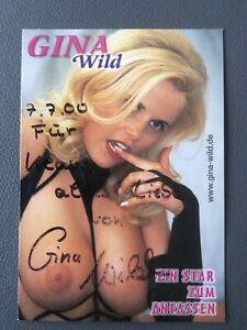 Autogrammkarte Gina Wild