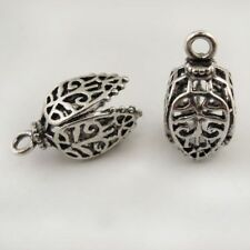 10 Pieces Retro Silver Copper Metal LampShade Charms Pendant Necklace Making