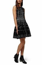 NEW TOPSHOP Dot Jacquard Fit & Flare Knit DRESS SIZE US 4 UK 8 EURO 36 $150
