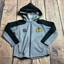 NHL Youth Boys Small 4 Chicago Blackhawks Full Zip Logo Delta Track Jacket NEW