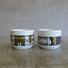 2 Mid Century Wood and Sons Alpine White Ironstone Condiment Bowls England MCM