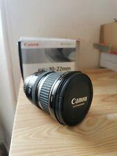 Mai usato-Canon EF 10-22 mm f/3.5-4.5 S Ultrasonic manuali per lenti Scatola Originale
