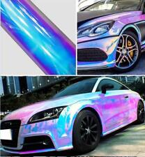 Car Glossy Laser Chrome Holographic Rainbow Vinyl Auto Wrap Film Sticker White