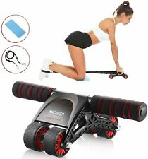Ab Roller Exercise Four Wheel Home Gym Workout Equipment Abdominal Core Hot