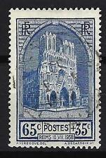 France 1938 Cathédrale de Reims Yvert n° 399 oblitéré 1er choix (1)