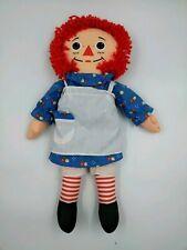 """1987 Playskool 18"""" Classic Raggedy Ann Plush Soft Rag Doll w/ Apron"""