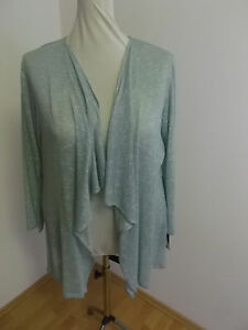 Jacke mit Wasserfallkragen aus leichtem, glänzendem Viskosestrickjersey  Gr. 50