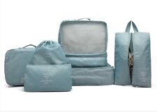 7pc Travel Packing Heavy Duty Cubes Blue Luggage Organizer Compatible W/ Rimowa