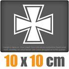 CROIX DE FER 10 x 10 cm JDM Sticker Voiture Automatique Blanc Autocollant pour