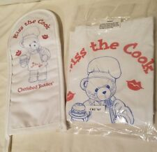 Cherished Teddies Kiss The Cook Apron Oven Mitt Hot Pad New