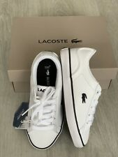 🆕💙LACOSTE LEROND Kids Boys TRAINERS SIZE Uk 10 BRAND NEW WITH BOX 💙💙