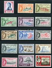 TURKS & CAICOS 1957 SG 237-253 SC 121-135 MLH * RARE COMPLETE SET 15 STAMP