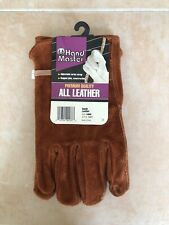 Hand Master Premium Quality All Leather / Suede Work Gloves * Size Large * New