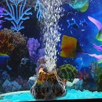 Volcano Air Bubble Stone Rockery Oxygen Pump Aquarium Fish Tank Ornament Decor A