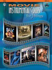 """""""MOVIE INSTRUMENTAL SOLOS FOR STRINGS"""" VIOLA MUSIC BOOK/CD-BRAND NEW ON SALE!!"""