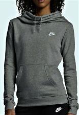 Nike Women's Sportswear Funnel Neck Fleece Pullover Hoodie S Gray