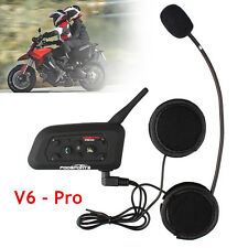 BT Motorrad Helm Gegensprechanlage Bluetooth Interphone Headset V6 1200m 6Riders