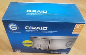 NEW G-Technology G-RAID 8TB Removable Drives High-Performance Storage System