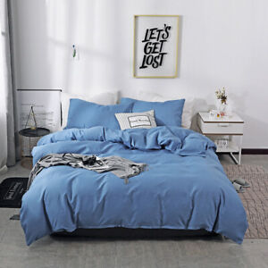 1PCS Home Bedroom Set Comfortable Polyester  Set Quilt  Cover + Pillowcases