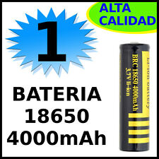 1x PILA BATERIA RECARGABLE ALTA CALIDAD 18650 4000mAh 3.7V