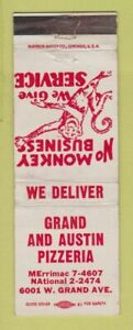 Matchbook Cover - Grand and Austin Pizza Chicago? IL  WORN