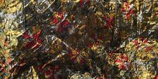 superbe tissu velours matelassé multicoloré 140x130 cm