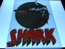 ORIGINAL VINTAGE UNUSED 1970's T SHIRT HEAT TRANSFER IRON ON SHARK RETRO