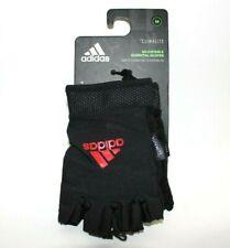 Adidas Climalite Ess Adjustable Sz M Medium Essential Gloves Black/Red 12414 New
