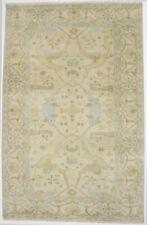Muted Beige Antique Style 6X9 Oushak Chobi Fine Wool Area Rug Oriental Carpet