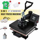 """5 in 1 T Shirt Heat Press Machine for Mug Hat Plate Cap Mouse Pad 900W 12"""" x 10"""""""