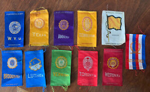 Lot College Cigarette Silks Vermont Brooklyn Poly Texas Tennessee Toronto Luther