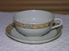 Rose Design Trimmed in Gold Tea Cup and Saucer Made in Japan
