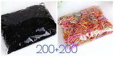 Élastiques cheveux couleur et noir pour l'enfant - lot de 400 pièces