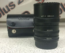 Vivitar Automatic Extension Tubes, 36mm, 20mm and 12mm tubes