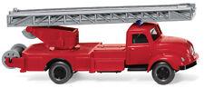 WIKING Modell 1:87/H0 Feuerwehr - Drehleiter (Magirus S 3500) rot #062002 NEU