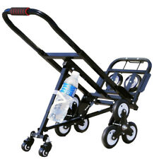 Portable Stair Climbing Folding Cart Climb Moving Hand Truck Carbon Steel Univer