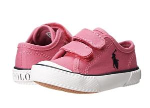 POLO RALPH LAUREN 991288T CHAZ EZ Inf`s (M) Preppy Pink Canvas Lifestyle Shoes