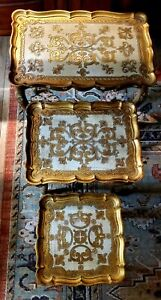 Vintage Italian Florentine Gold Nesting Tables
