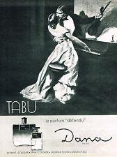 PUBLICITE ADVERTISING 084  1965  DANA Eau de Cologne parfum  TABU
