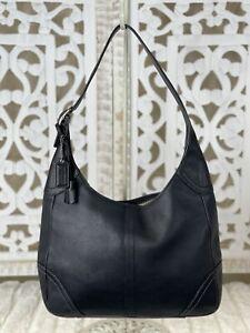 COACH Hamilton Black Leather Hobo Shoulder Bag F10280 Medium $298