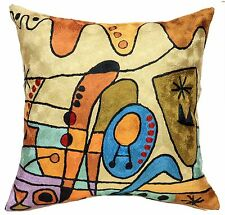 CARNIVAL MODERN ACCENT CONTEMPORARY NOUVEAU ART PILLOW ABSTRACT COUCH CUSHION