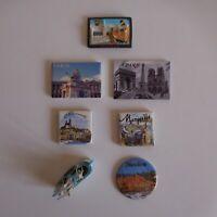 7 magnets aimants BRUSSELS Belgique PARIS MARSEILLE MENTON France N4721