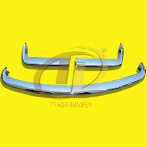 FIAT 124 SPIDER BUMPERS (1966-1975) BUMPERS STAINLESS STEEL POLISHED SUS 304.